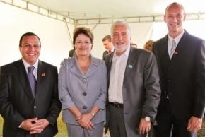 O Gran Hotel Stella Maris recebe a Presidente Dilma Rouseff e o governador Jaques Wagner